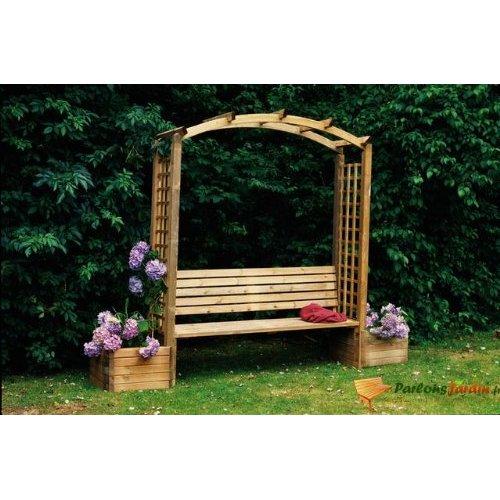 Pergola bois topiwall for Arc de jardin en bois