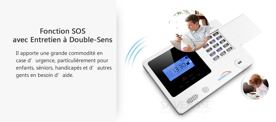 SMS/Appel/APP Alarme GSM Maison Domotique HOMESECUR, Sirène Solaire