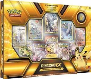Coffret Pokemon PIKACHU EX XY84 + 5 cartes promo & 5 booster + pins US
