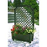 KHW 37305 Bac à fleurs à roulettes avec treillage et système d