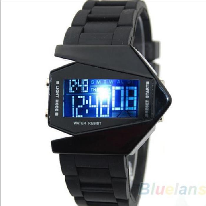 Avions LED montres numériques hommes montre de sport militaire montre
