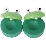 TOOGOO(R)1 Paire castagnettes rondes en bois de Grenouille pour bebe