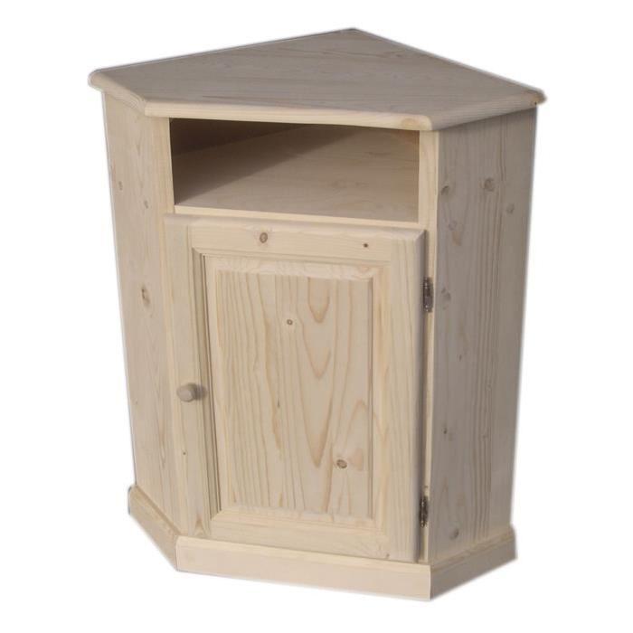 meuble d'angle en bois brut Achat / Vente petit meuble rangement