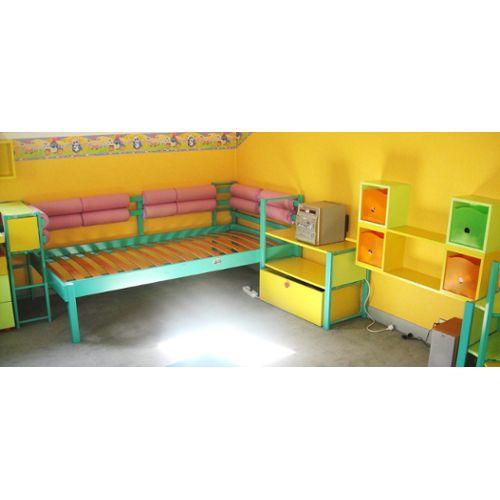 Chambre Enfant Vibel: Lit + Bureau+2 Armoires+Commode+Bibiliothèques