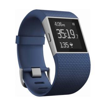 Montre Sport Fitbit Cardio + GPS Surge Bleu Taille S Montre
