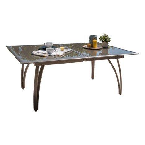 Table de jardin rectangulaire brun / marron 10 personnes | Leroy