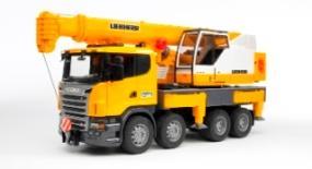 Bruder 3570 Véhicule Miniature Camion Scania avec Grue Liebherr