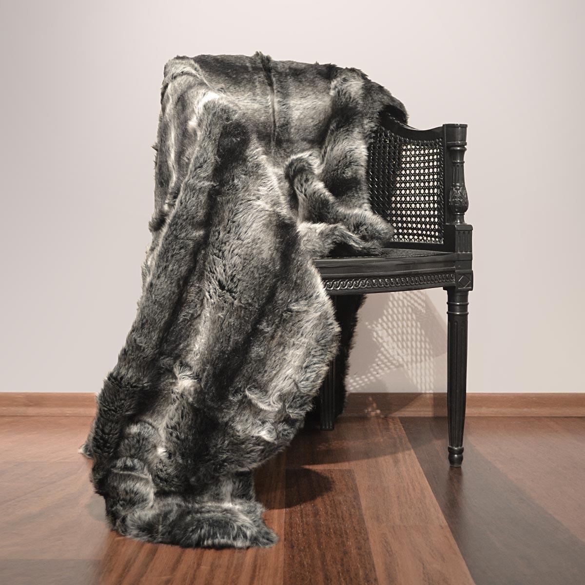 plaid fausse fourrure topiwall. Black Bedroom Furniture Sets. Home Design Ideas
