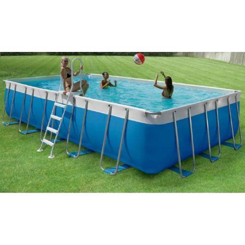 New Plast piscine hors sol tubulaire nymphéas 540 x 265 cm avec
