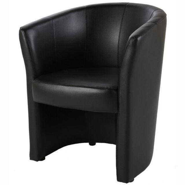 FAUTEUIL CABRIOLET EVER PVC NOIR Achat / Vente fauteuil PVC Soldes