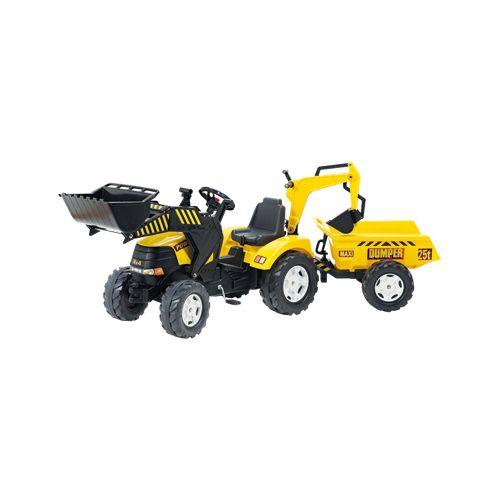 Falk Tracteur Power avec excavatrice et remorque pas cher Achat