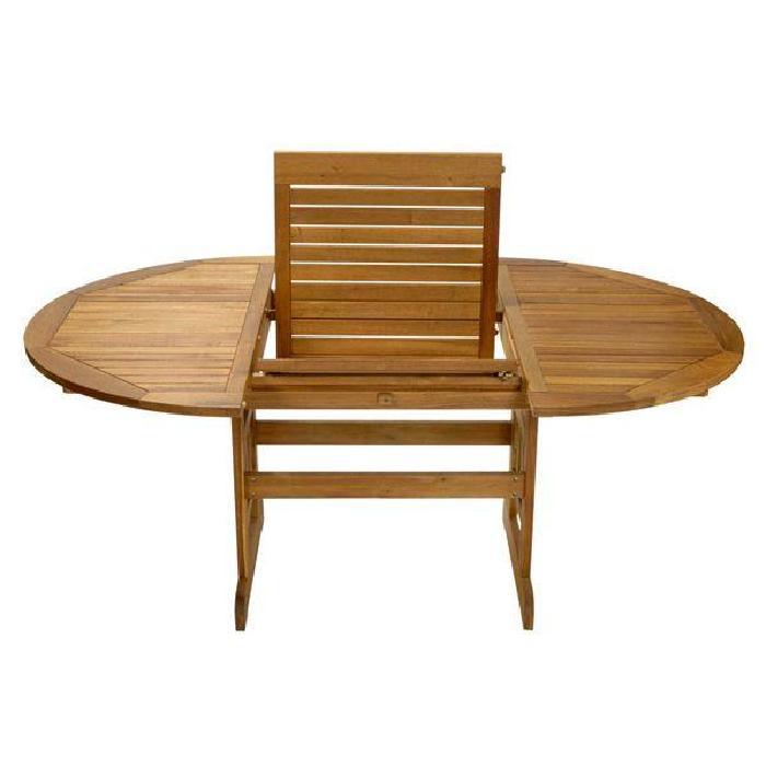 Table de jardin en bois Table de jardin extensible avec 1 allonge de