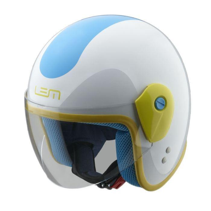 / Vente casque moto scooter LEM Casque Junior GF Blanc