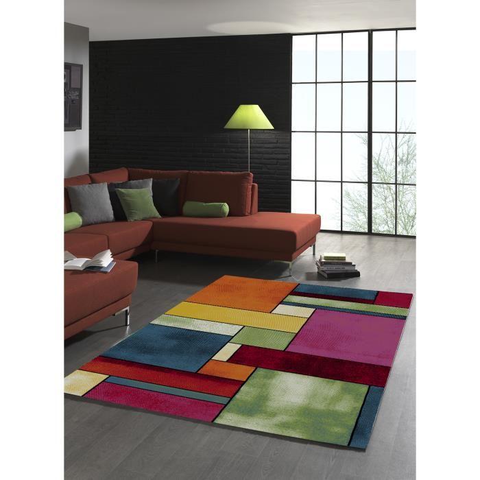 Tapis de salon design geometrique BELO 11 multicolore 200×290, par