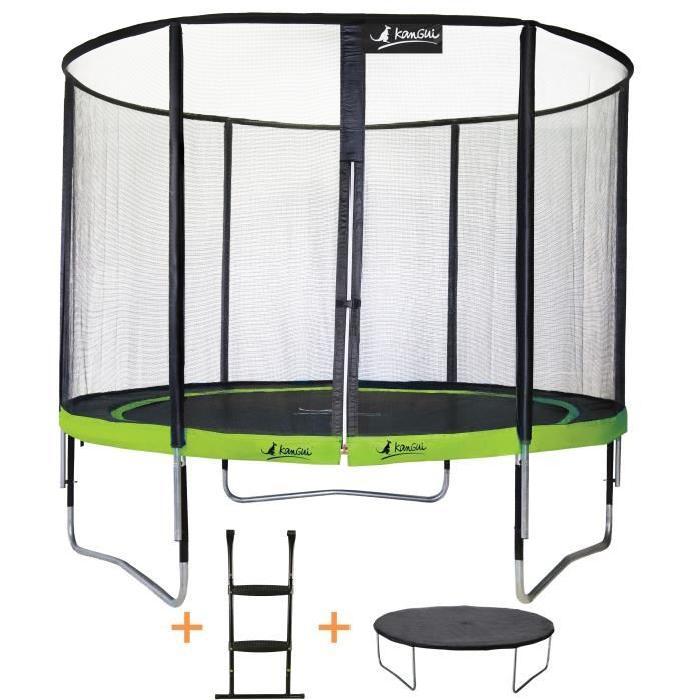 Trampoline de jardin Punchi ALOE 300 Kangui Pack trampoline