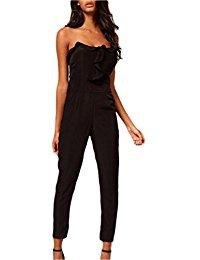 combinaison pantalon chic Noir : Vêtements