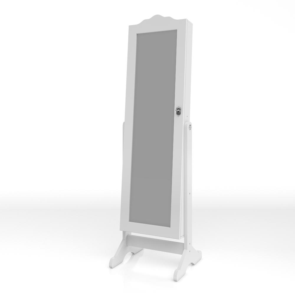 Armoire à glace Armoire à bijoux Miroir blanc LED
