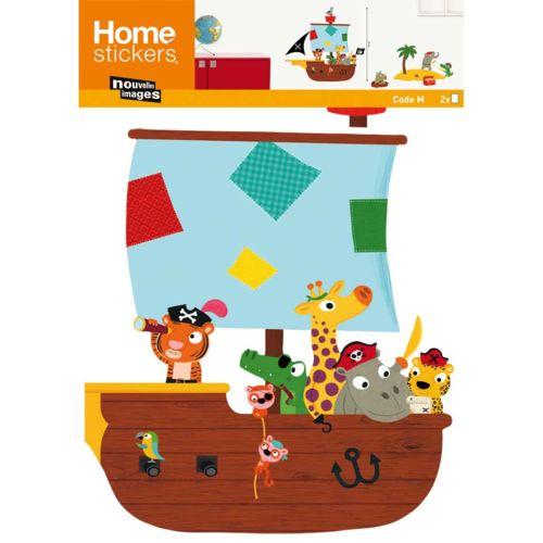Nouvelles Images Sticker mural enfant petits pirates 49x69cm Boy