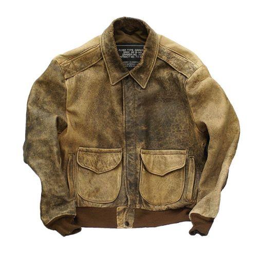 Blouson aviateur vintage cuir Flyer Schott Type Garment Schott