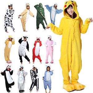 Déguisement Unisexe Combinaison Pyjama Animal Adultes Polaire