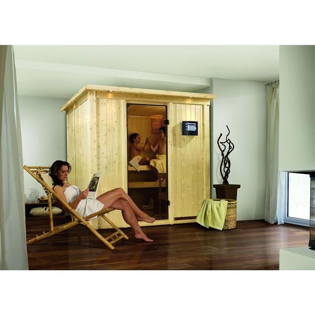 Sauna traditionnel daria 3 68 mm plug & play l 196 x p 170
