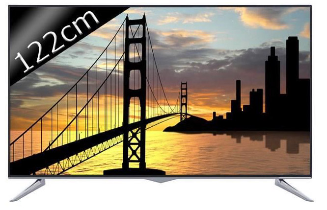 UHD 4K 122cm (48 pouces) LED Smart TV 3D 4 HDMI Classe A