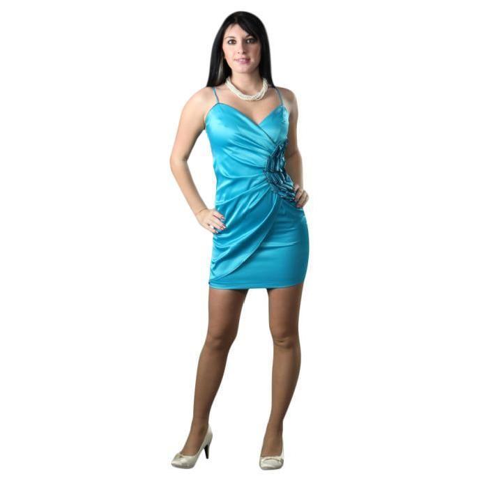Robe de soirée BELA Noir Bleu turquoise Bleu Achat / Vente robe
