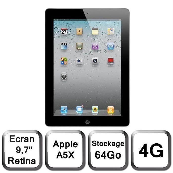 4G Achat / Vente tablette tactile Apple iPad 3 noir 64 Go 4G