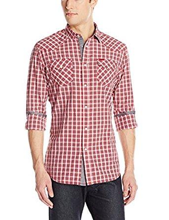 DIESEL Homme Chemise petits carreaux rouge Sulfura pour homme