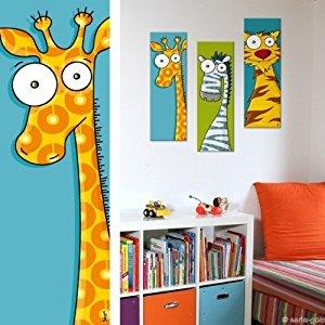 Tete de» Girafe, tableau, décoration chambre d'enfant