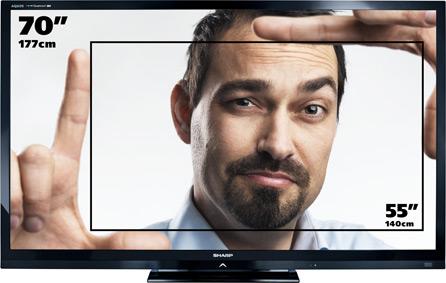 Sharp LC 70LE740E TV LCD 70″ (177 cm) LED 3D HD TV 1080p 100 Hz 4 HDMI
