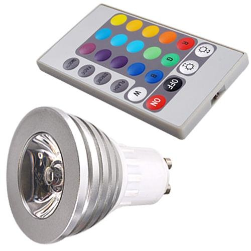 3W GU10 16 Couleurs Changeant RGB LED Lumiere Ampoule
