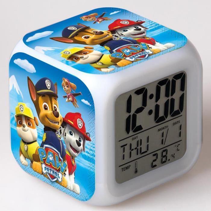 PAT PATROUILLE paw patrol les enfants jouet réveil horloge mené 7