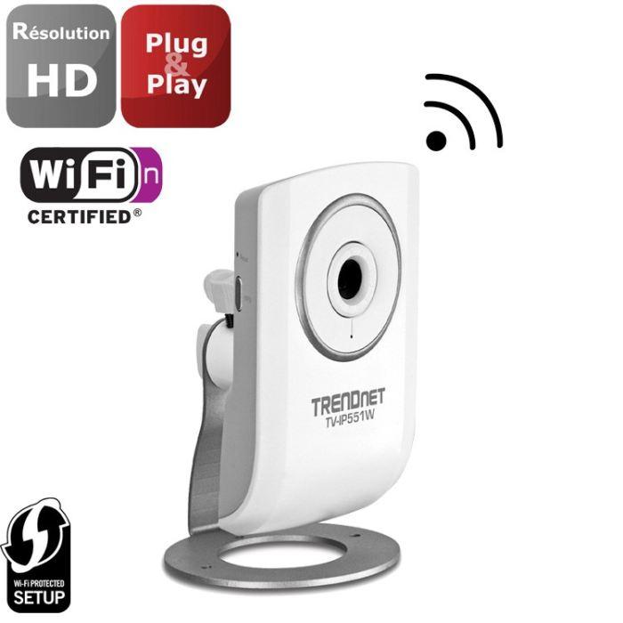Trendnet Caméra IP + WiFi N150 TV IP551W Achat / Vente caméra ip