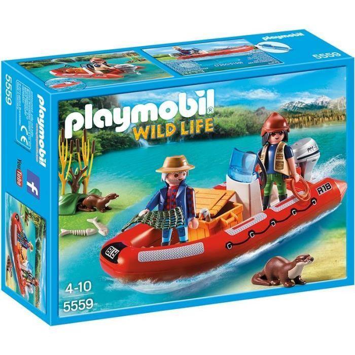 PLAYMOBIL 5559 Braconniers avec bateau Achat / Vente univers