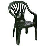 Chaise de jardin en résine monobloc Blanc: Jardin