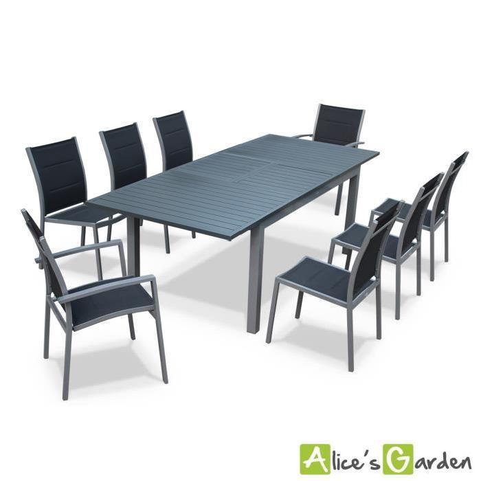 salon de jardin aluminium 8 places topiwall. Black Bedroom Furniture Sets. Home Design Ideas