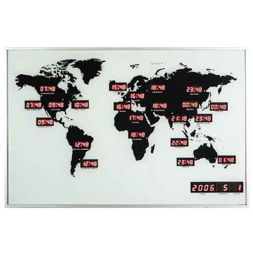 Horloge murale NeXtime World Time Digit pas cher Achat / Vente