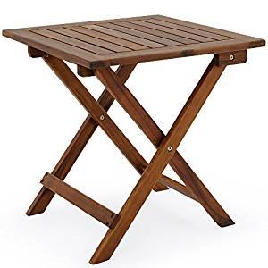 Table basse pliante en bois Tables jardin d'appoint 46x46cm
