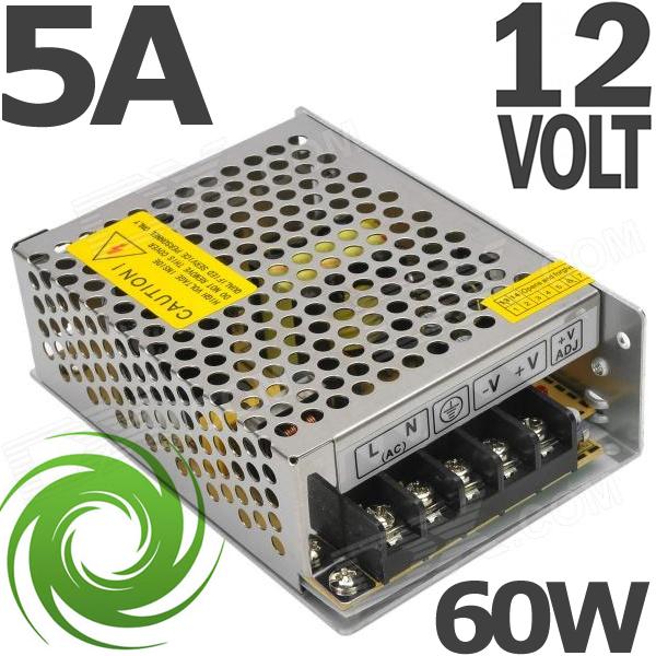 TRANSFORMATEUR ALIMENTATION 220V 12V 5A 60W STABILISÉE x LED & SPOTS