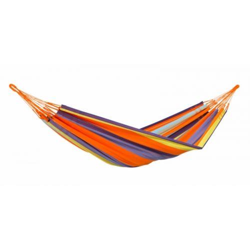 Amazonas Hamac large 2 places 2,4×1,6 mètres couleurs orange marron