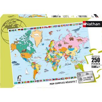 Nathan Puzzle Carte du Monde 250 pcs 100 300 pièces Achat & prix