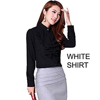 Oxford Chemise à manches longues pour femme: Vêtements et