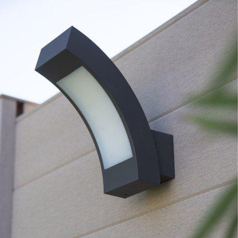 Applique montante extérieure Kendal LED intégrée gris INSPIRE