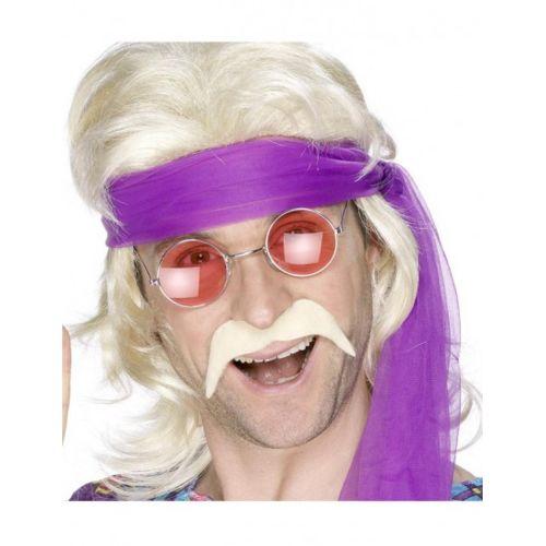 Smiffy's Moustache disco années 70 blonde pas cher Achat / Vente
