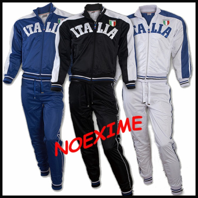 SURVETEMENT ITALIA BLEU/BLANC/NOI R JOGGING S/M/L/XL/XXL