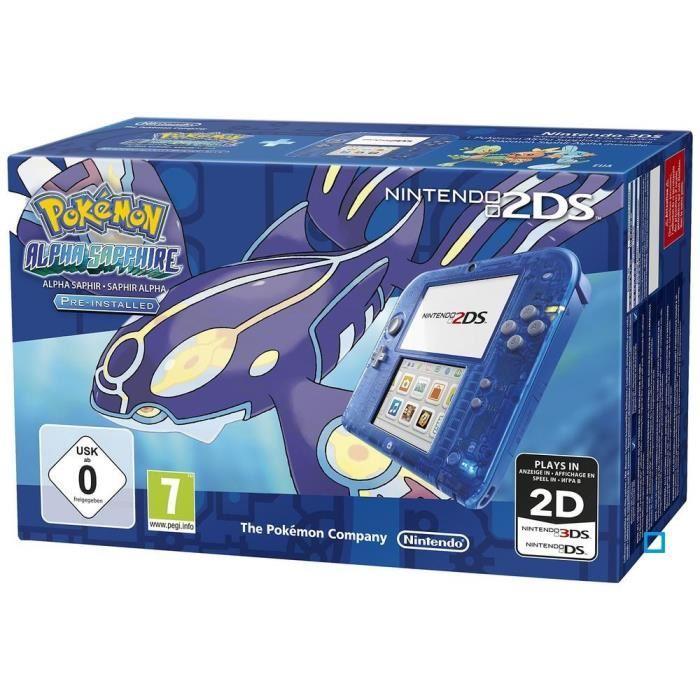 Bleue + Pokemon Saphir Alpha Achat / Vente console 2ds 2DS