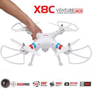 Gyro RC helicoptere Quadcopter White Drone X8C Camera 2MP HD Demande