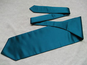 Cravate Homme Soie Habillee Bleu Sarcelle Fonce Mariage Pointe Simple