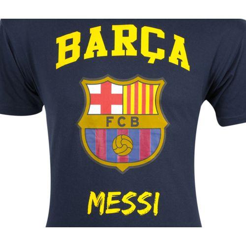 Licence Officielle T shirt Fc Barcelone Messi N°10 Bleu pas cher